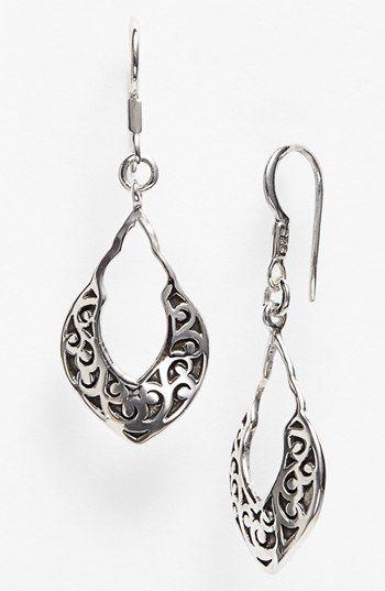 Lois Hill Small Open Drop Earrings, $138
