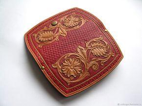 Купить Кошелек женский натуральной кожи с гравировкой Шеридан - красный, кошелек, фен-шуй