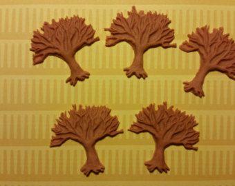 Torta commestibili/Cupcake decorazioni - 12 alberi di Halloween - fondente cimatrici, cimatrici Sugarpaste