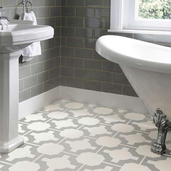 Celtic floor pattern in a bathroom vinyl flooring Harvey Miller UK, free delivery anywhere in UK