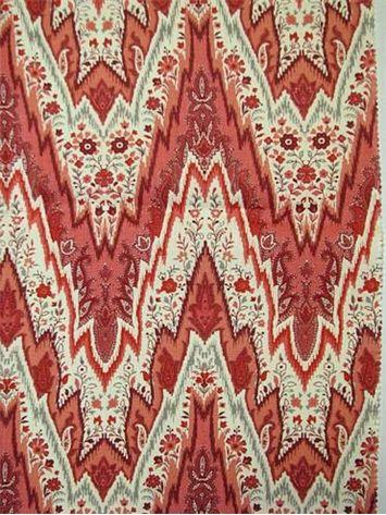 Bray Flamestitch Ladybug. Williamsburg Colonial Fabric ...