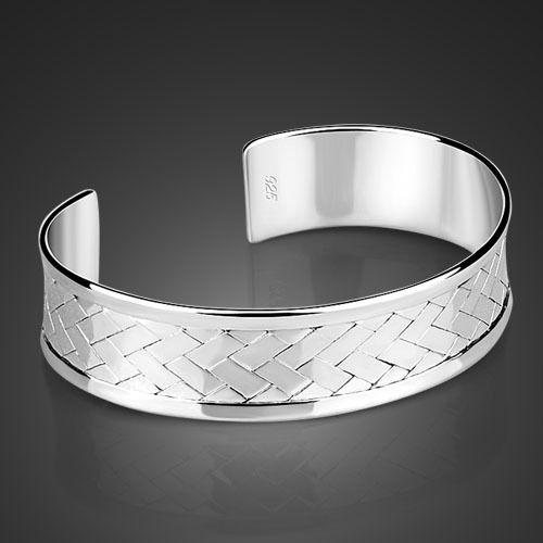 Серебро ювелирные изделия, Регулируемый браслет, Серебро манжеты женщины