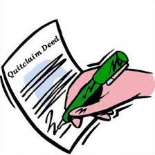A quitclaim deed conveys only 	such rights as the grantor has. This type of 	deed transfers the owner's interest to a 	buyer, but does not guarantee that there are 	no other claims against the property, or that 	the property is indeed legally owned by the 	seller.