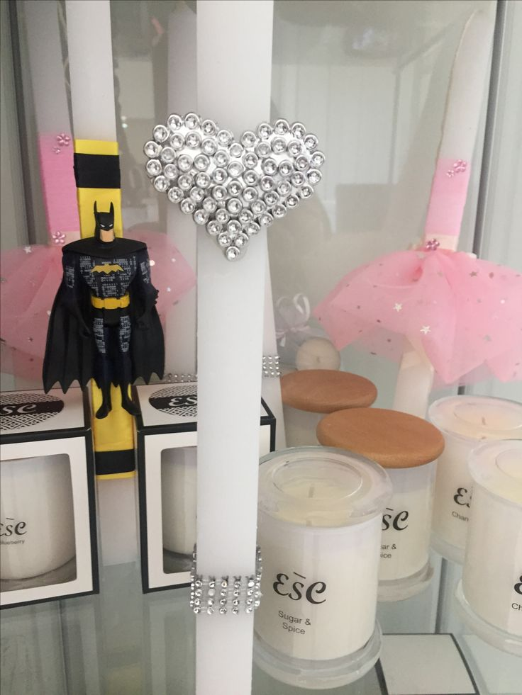 Easter candle with love heart Diamonds
