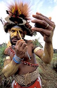 PNG make up Tribesman