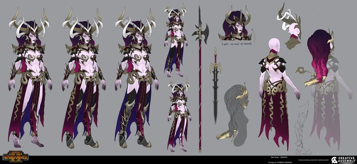 ArtStation - Dark Elves - Morathi, Creative Assembly