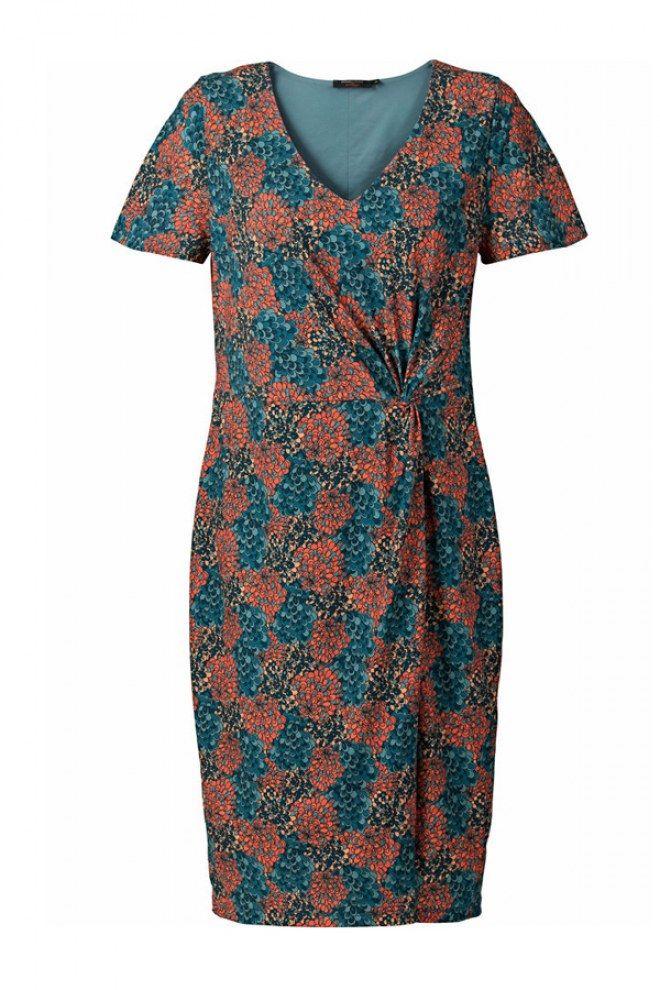 Gemustertes Jerseykleid von sheego by Anna Scholz, 119 €