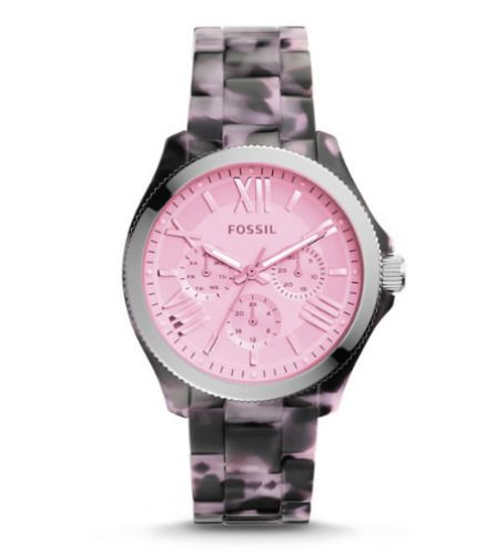 VERY POPULAR-NOW RETIRED-HARD TO FIND-WOMEN'S FOSSIL WATCH CECILE AM4643. #fossil #fossilwatch #pink