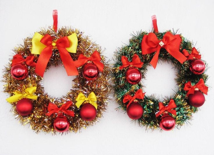 DIY Рождественские венки своими руками. Мастер класс. Christmas wreaths ...