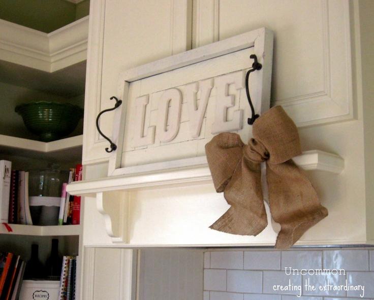 Pottery Barn Knock-Off...{ LOVE wall art plaque } - Uncommon Designs...