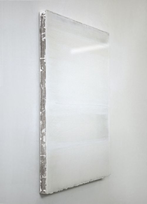 *white minimal Art* - De Sauter, Chalk on Wood