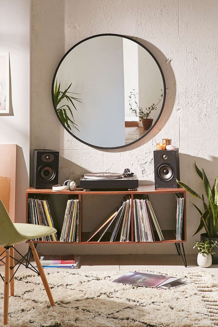 17 best ideas about record player table on pinterest for Miroir rond ikea
