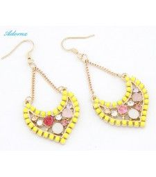 Candy Colour CZ Crystal Earrings