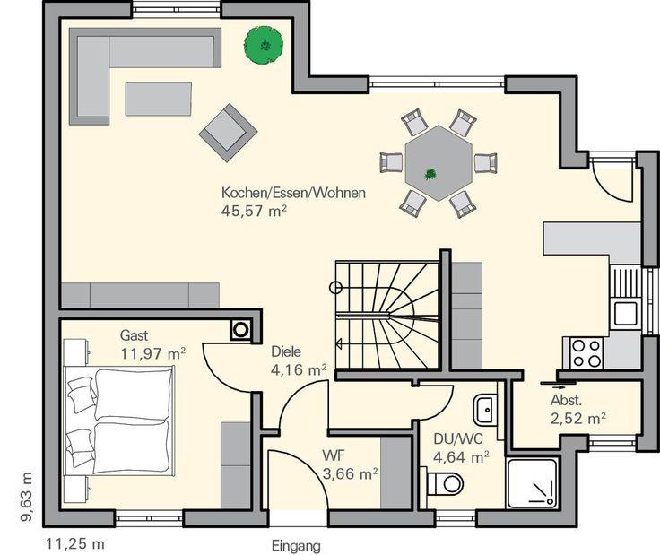 grundriss eg fichtner einfamilienhaus pinterest. Black Bedroom Furniture Sets. Home Design Ideas