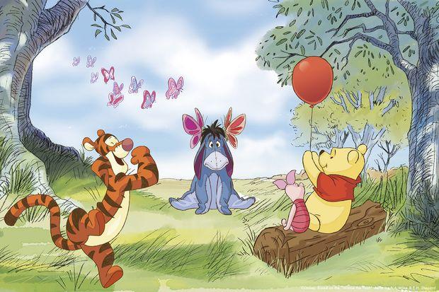 Winnie the Pooh - Butterflies -             Fototapeter & Tapeter -           Photowall