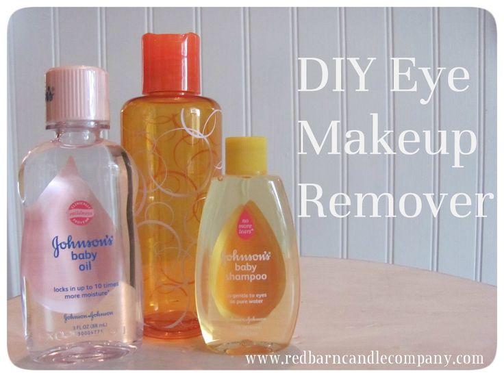Baby shampoo eye makeup remover