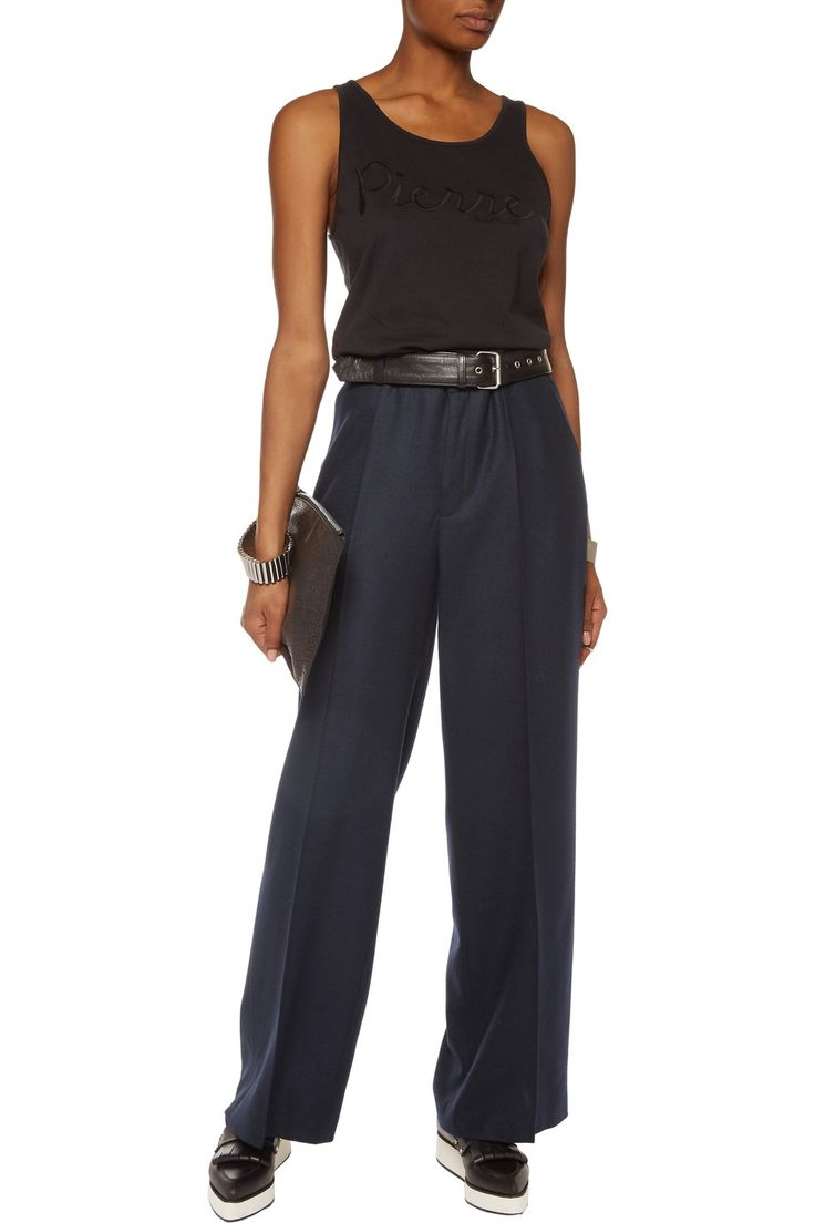 Shop on-sale Pierre Balmain Wool-blend twill wide-leg pants. Browse other discount designer Pants & more on The Most Fashionable Fashion Outlet, THE OUTNET.COM