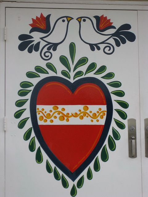 czech folk art door