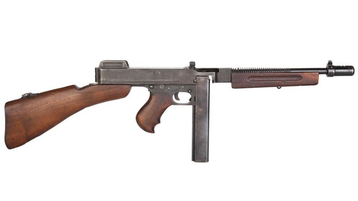 "The Thompson submachine gun, also known as the ""Chicago Typewriter,"" had a distinguished military career in addition to its Prohibition-era prominence."
