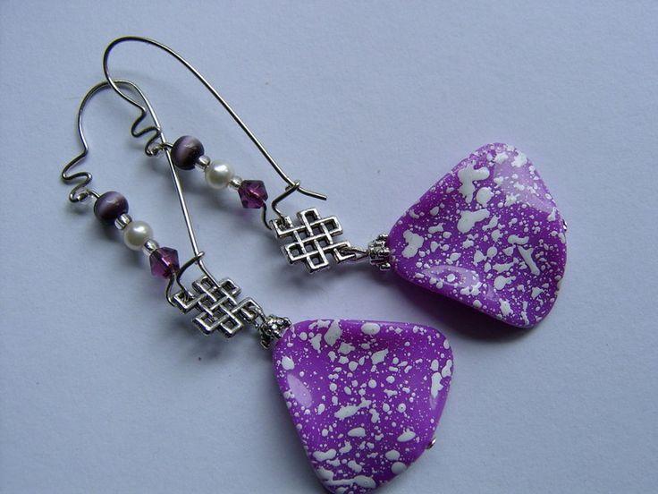 Ohrringe,lila von kunstpause auf DaWanda.com