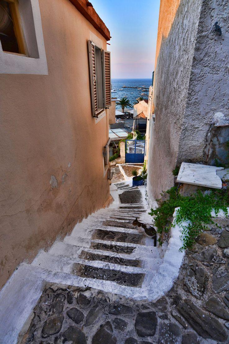 Steps to the sea, Koroni, Greece