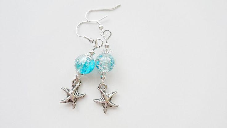 Kolczyki+niebieskie-+rozgwiazdy+w+barbarella+na+DaWanda.com