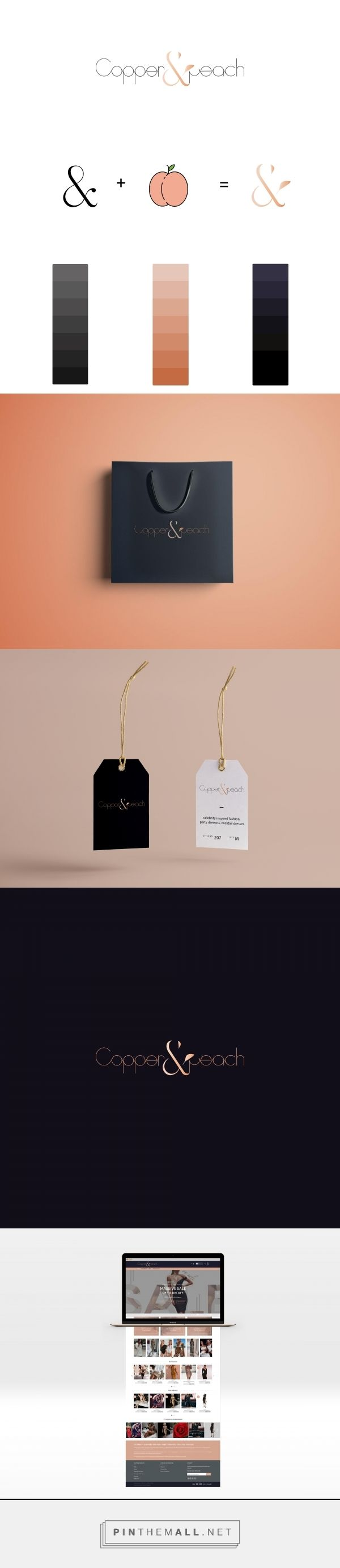 Chic, Modern, Sophisticated, Upscaled and Luxe for Copper and Peach Australian online boutique | Identity Logo, Web Design, Graphics, Branding and Creative Direction by Studio H²o @studio_h2o #branding #graphicdesign #logo #logodesign #fashionlogo #webdesign #brandidentity