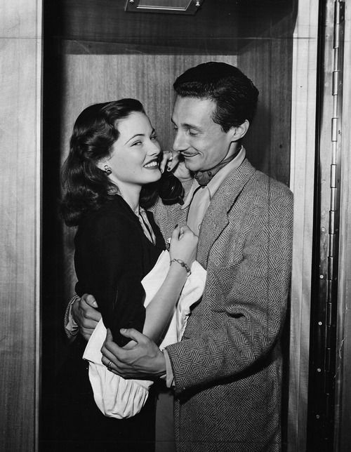 Gene Tierney with husband Oleg Cassini.: Gene Tierney, Classic Movie, Actresses Gene, Famous People, Movie Stars, Oleg Cassini, Film Cinema, Husband Oleg, Classic Hollywood