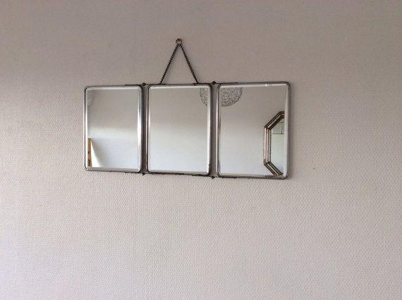 Les 60 meilleures images propos de miroirs vintage sur for Miroir triptyque barbier