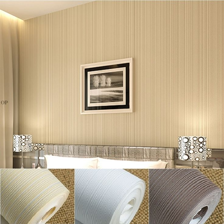 22.97$  Buy now - http://ali8vd.shopchina.info/go.php?t=32298758432 - Italian Style Modern 3D Feeling Background Wallpaper For Living Room White And Brown Striped Wallpaper Roll Desktop Wall Papers  #buychinaproducts
