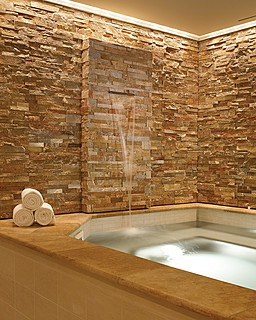 Waterfall Into Bathtub, Would Prefer Whiter Color But Love The Waterfall  Effect.