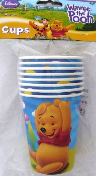 Winnie the Pooh Party - Decorations Partyware - Cups