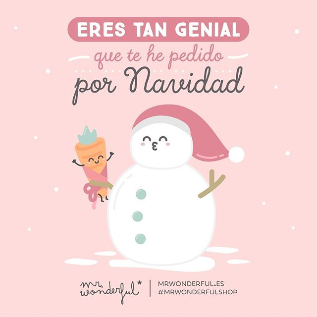 Serás mi mejor regalo #mrwonderfulshop #felizviernes  You are so great I have asked for you for Christmas. You will be my best gift.