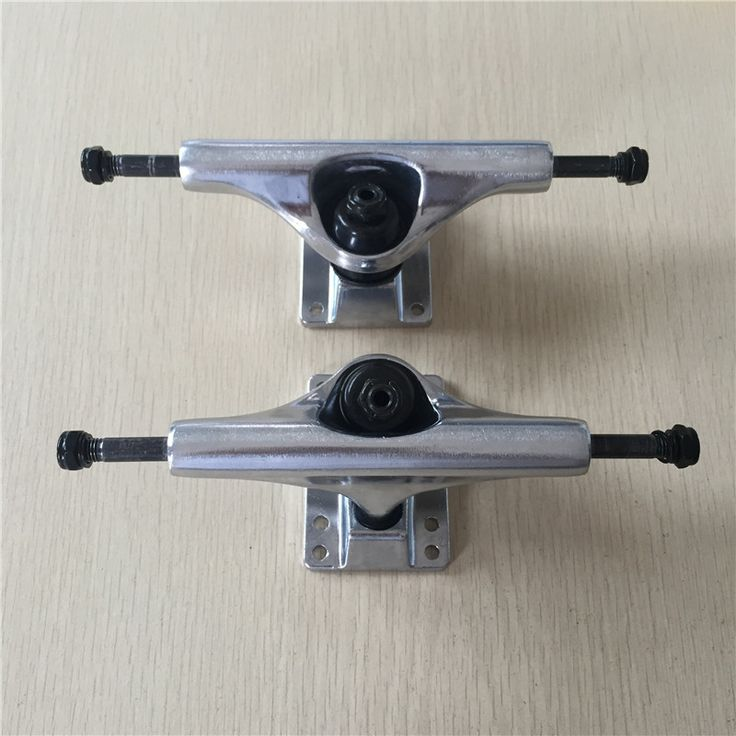 "2016 Skateboard Trucks  5.25"" Skate Trucks Aluminum Silver Color Middle Hollow Skate Board Trucks Caminhao"