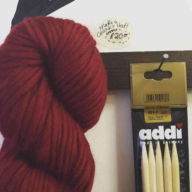 Gift idea! Some super soft and mega chunky wool with some extra special and lovely Addi Dpns size 8mm.  // #augreatgifts #alterknituniverse #addineedles #chunky #auyarns //From our shop account: @AUshopUK follow us on instagram/twitter for more fun peeks into our shop near Bristol UK. http://ift.tt/1SPuuxi We're the wool shop in Cleeve with the big sheep mural on the A370.
