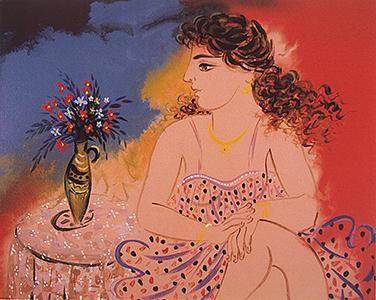 Σταθόπουλος Γιώργος | Gallery KriosΚοπέλα με λουλούδια στο βάζο