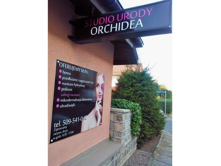 Oklejanie witryn - Studio Urody Orchidea - Agencja Reklamy Effect Team Słupsk