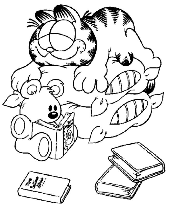 garfield i love you coloring pages | 1000+ images about Coloring Sheets on Pinterest