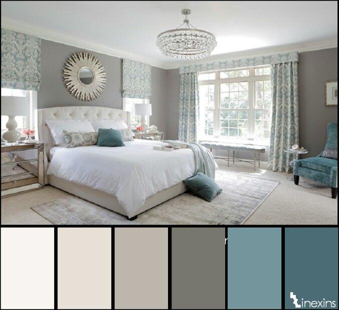 Paleta de color del beige al azul