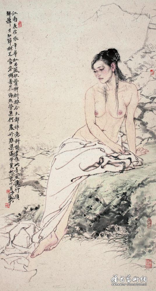 """何家英 (He Jiaying), """"庾信春晓"""" (""""Yu Xin Chunxiao"""")"""