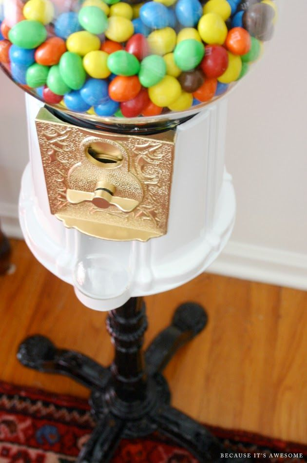 Because It's Awesome // gumball machine makeover