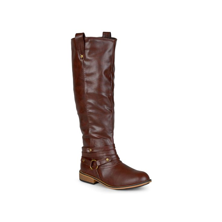 Journee Collection Walla Women's Knee-High Boots, Teens, Size: 9.5 M Xwc, Brown
