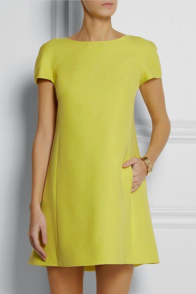 The Daily Frock: Valentino Citrus Mini Trapeze Bow Dress