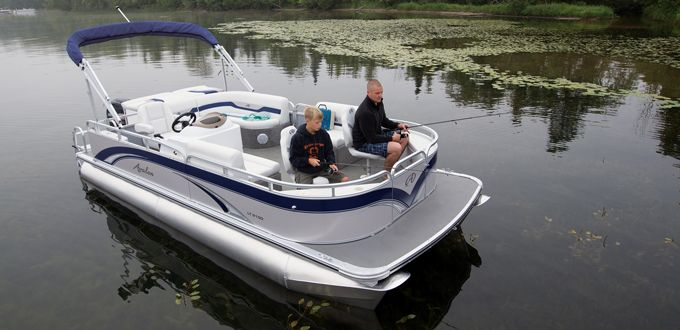 LS Bow Fish Boating - A high quality fishing pontoon boat at an affordable price. #avalonpontoons #pontoonboats #fishing
