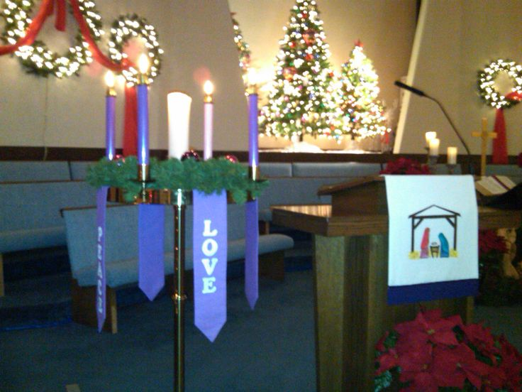 9 best christmas church images on pinterest christmas for Advent decoration ideas