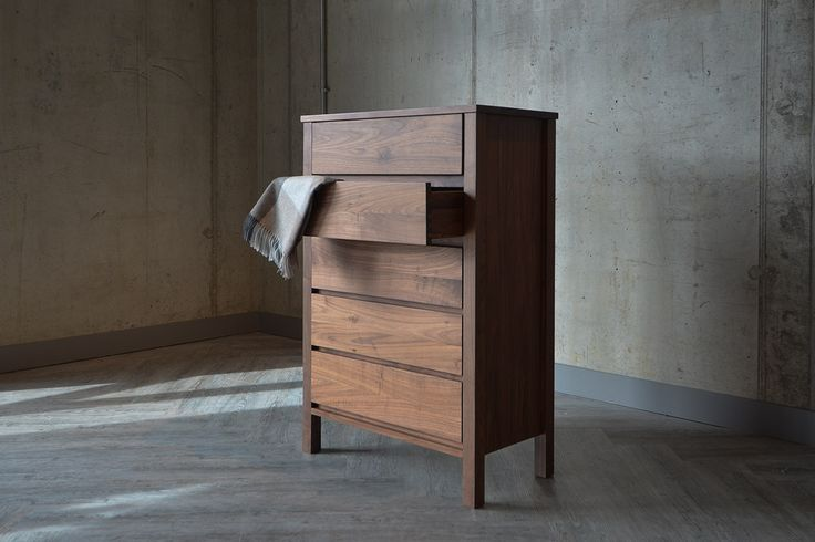Black Lotus | Shaker | Tall Walnut Chest | Natural Bed Company
