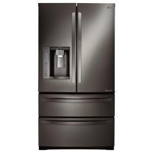 LG Electronics 27 cu. ft. 4-Door French Door Refrigerator with Ice and Water Dispenser, Door in Door in Black Stainless Steel-LMXS27676D - The Home Depot