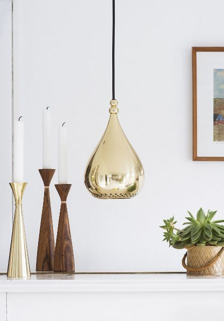 Infuse some Scandinavian style with these metallic pendant lights available in solid brass or copper - check them out on our blog this week