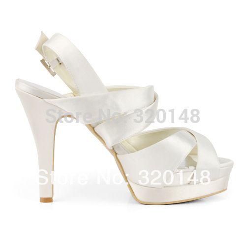 moda scarpe donna 2013 EP11092 IPF avorio peep toe platform tacco a spillo raso da sposa sandali tacco alto in      2014 donne di modo EP2128-PF bianco peep toe cinghie incrociate 5 pollice taccoda Sandali delle donne su AliExpress.com | Gruppo Alibaba