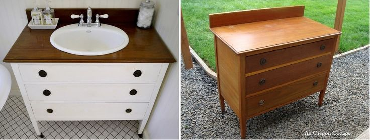Really cool idea! Check out some of our ideas for DIY bathroom vanity designs and maybe you'll be inspired to start your own project. www.amycrosslinrealestate.com